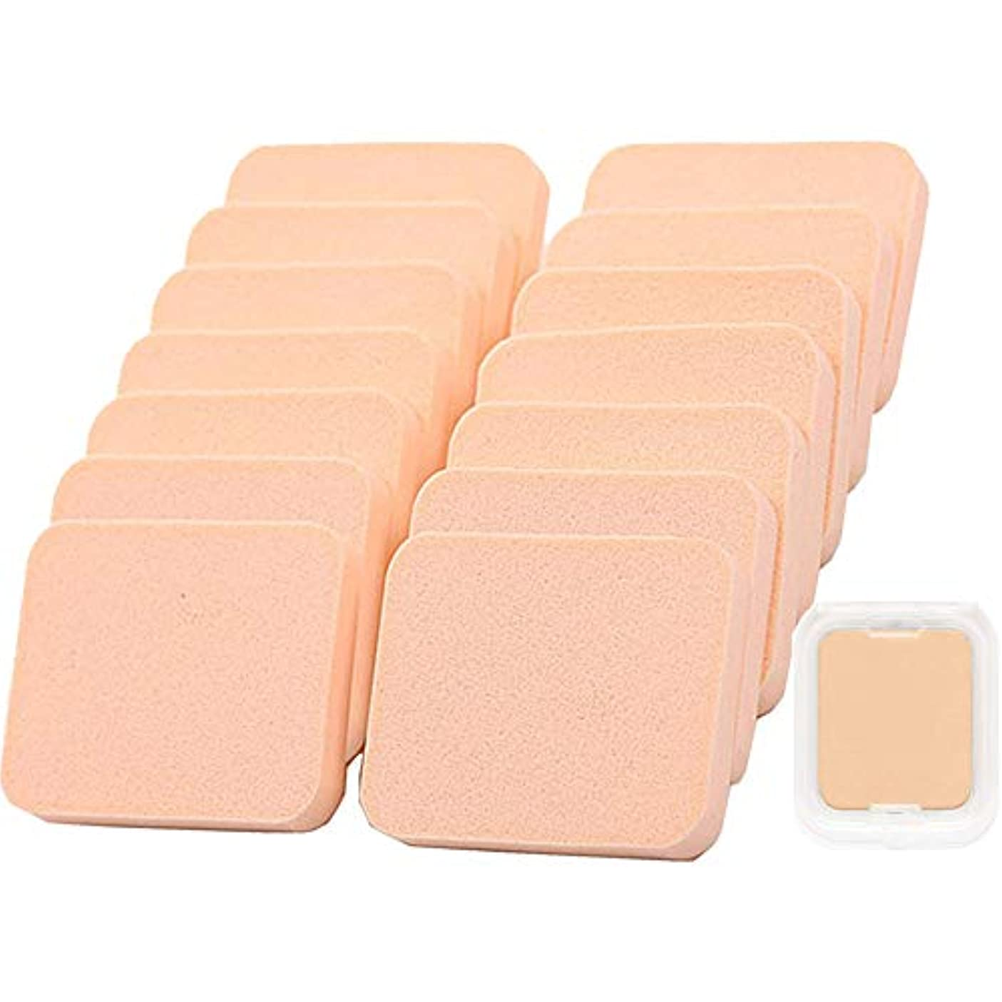 シャープロゴ星エアパフ Butokal エアクッションパフ クリーム アプリケーター 乾湿兼用 スポンジパフセット フェイシャル 15個入 化粧道具