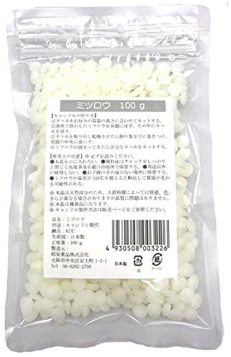 文言化学者女王昭栄薬品 ミツロウ100g ペレット状 漂白タイプ