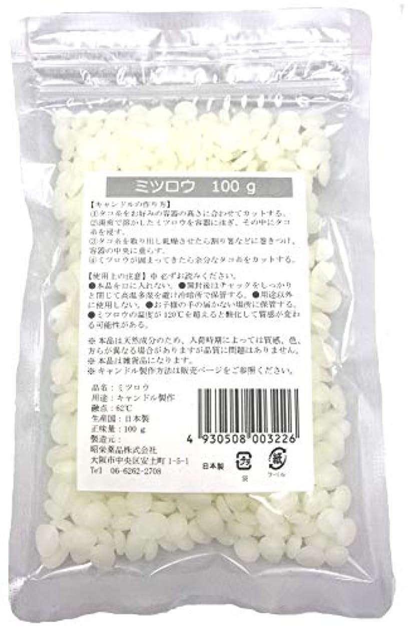 弓中断内訳昭栄薬品 ミツロウ100g ペレット状 漂白タイプ