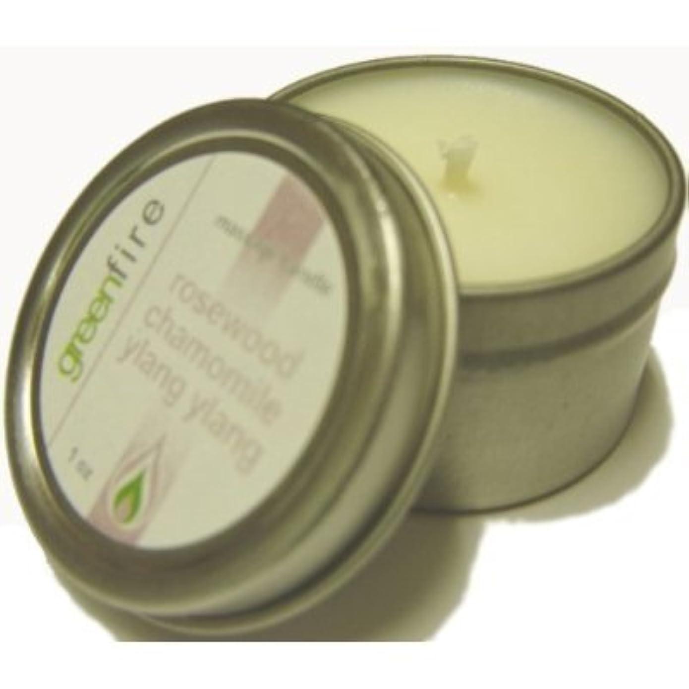 スカリー精査するどちらもグリーンファイヤーマッサージキャンドル/3パック入り ローズウッド?カモミール?イランイランの香り(サイズ:29.6mL、59.1mL、118.3mL)