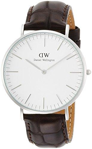 [ダニエルウェリントン]Daniel Wellington 腕時計 Classic York ホワイト文字盤 革ベルト 0211DW メンズ 【並行輸入品】