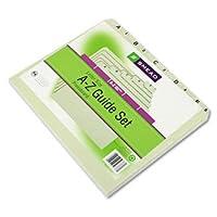 Smead ®アルファベットTopタブインデックスファイルガイド設定ガイド、プレーンタブ、A - Z、ltr25(パックof5)