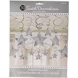 Multi Color Mega Value Pack Star Swirl Decorations マルチカラーメガバリューパックスター渦巻装飾?ハロウィン?サイズ:
