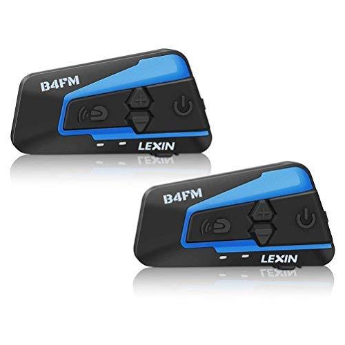 LEXIN LX- B4FM バイク インカム bluetooth インターコム 4riders 同時通話 高音質 FMラジオ付き 無線機バイク 2種類マイク長時間通話 日本語説明書付き スキーヘルメット用バイク ヘルメット用 ヘッドセット インカム