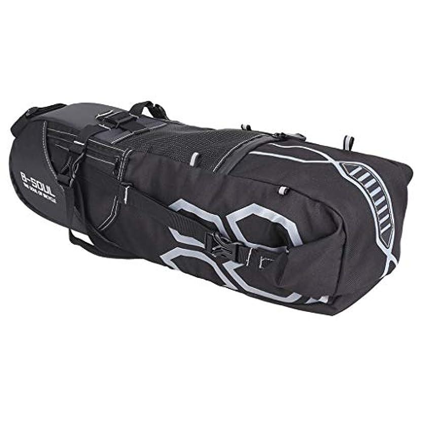 鋸歯状トチの実の木寛大さSharplace 12L バイク サドルバッグ ストラップ式 自転車 ツールバッグ シートバッグ 防水性 耐久性 汎用