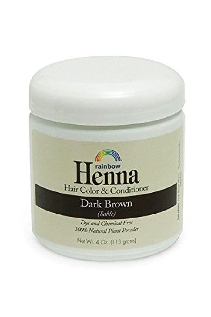 宇宙飛行士受ける評価するRainbow Research, Henna, 100% Botanical Hair Color and Conditioner, Persian Dark Brown (Sable), 4 oz (113 g)