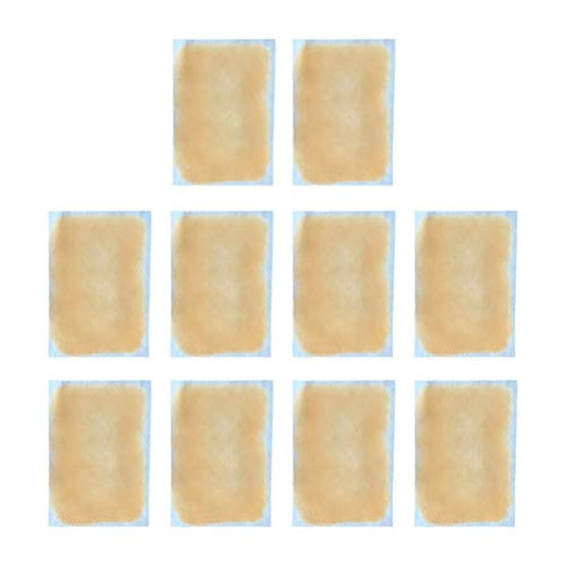革新正直角度HEALLILY 冷却ジェルパッチの額冷却はSumme10pcsのための発熱性頭痛を和らげます(黄色)