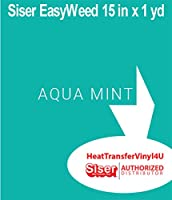 Siser EasyWeed Iron On Heat Transfer Vinyl 15 Inches by 1 Yard (3 Feet) (Aqua Mint)