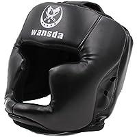 視界 が 広くて ずれにくい 分厚い クッション 高密度 ゴム 使用 ボクシング ヘッドギア 空手 ムエタイ 格闘技 TI024 (a.黒)