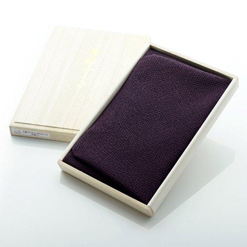 定番 台付 ちりめん 正絹 ふくさ 袱紗 木箱入り 紫