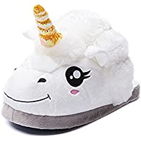 Rainbow Unicorn Lovely Warm Plush Unicorn Shoes Soft Shoes Homewear Slippers for Men Women