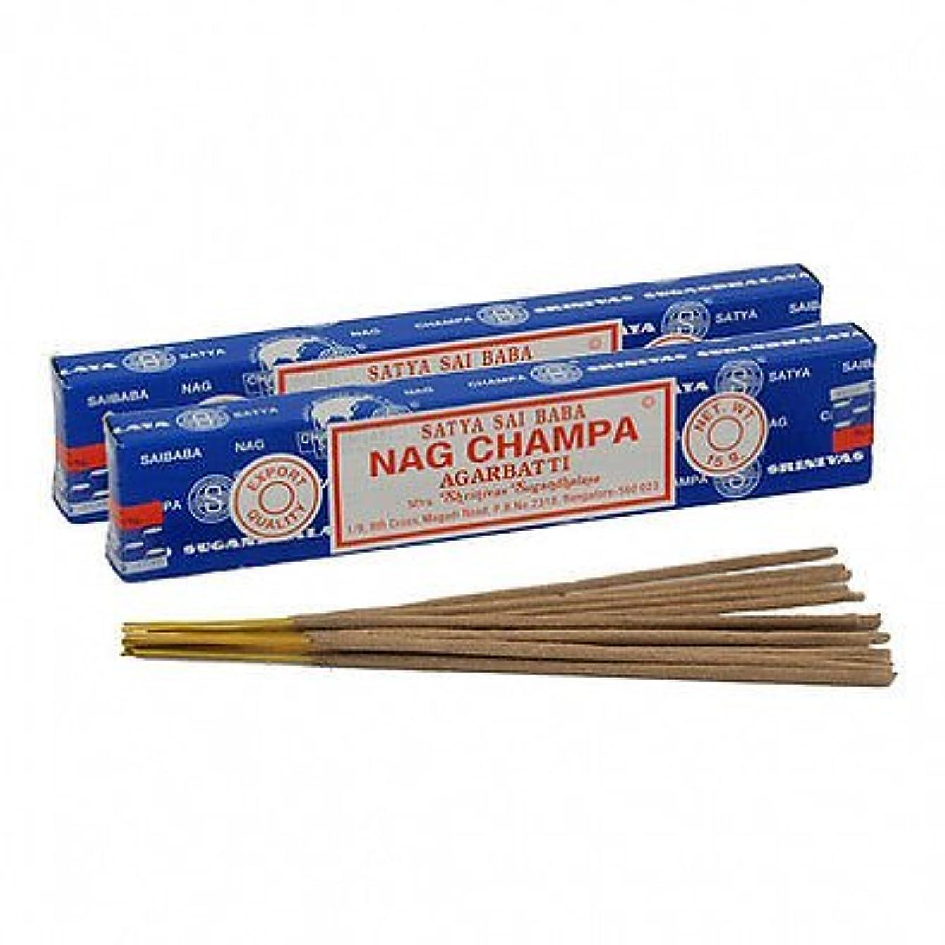 信頼性透ける言い聞かせるSatya Sai Baba Nag Champa Incense 180 gm ( 15g12 )