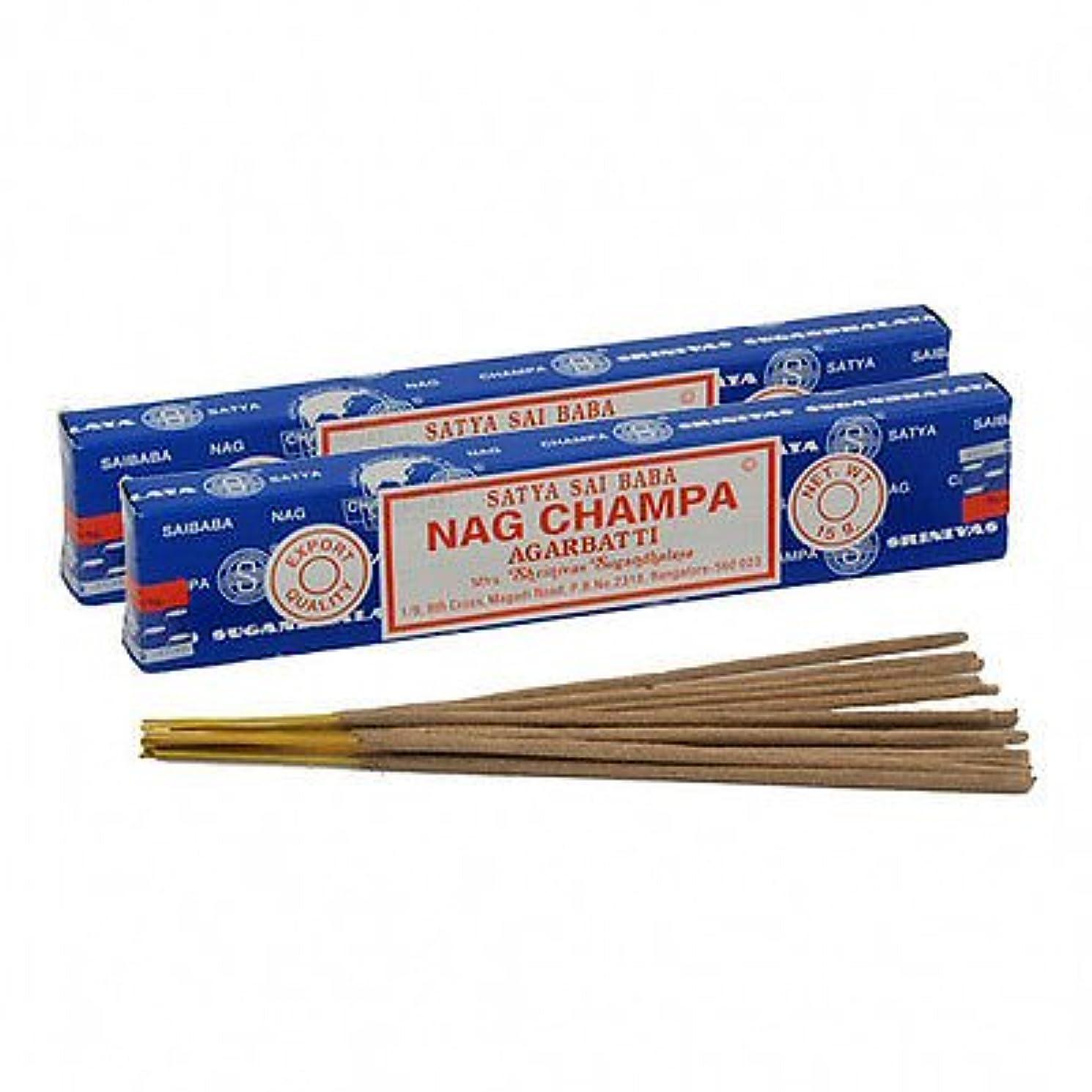 性別浴室レタスSatya Sai Baba Nag Champa Incense 180 gm ( 15g12 )