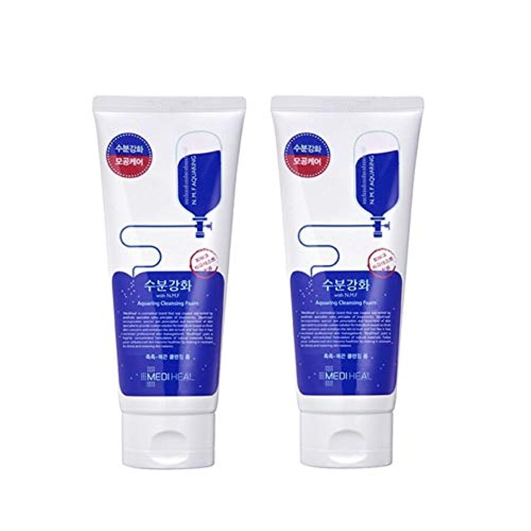 メディヒール水分強化クレンジングフォーム170mlx2本セット韓国コスメ、Mediheal Aquaring Cleansing Foam 170ml x 2ea Set Korean Cosmetics [並行輸入品]