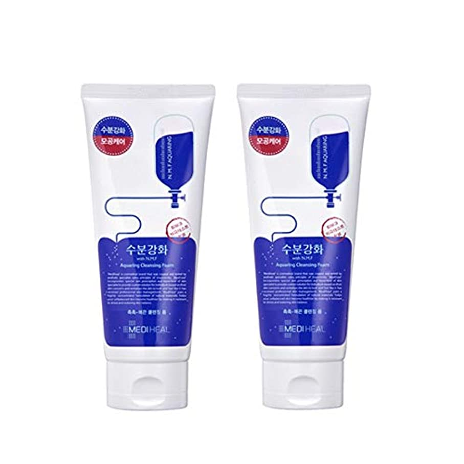 私の暴君チチカカ湖メディヒール水分強化クレンジングフォーム170mlx2本セット韓国コスメ、Mediheal Aquaring Cleansing Foam 170ml x 2ea Set Korean Cosmetics [並行輸入品]
