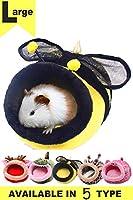 フェレット ハウス JanYoo 小動物用ハウス ハリネズミ ハムスター モルモット チンチラ フェレット ラット 暖かいベッド 取り外し可能なクッション 家 保温 防寒 ワニ型ベッド(L)