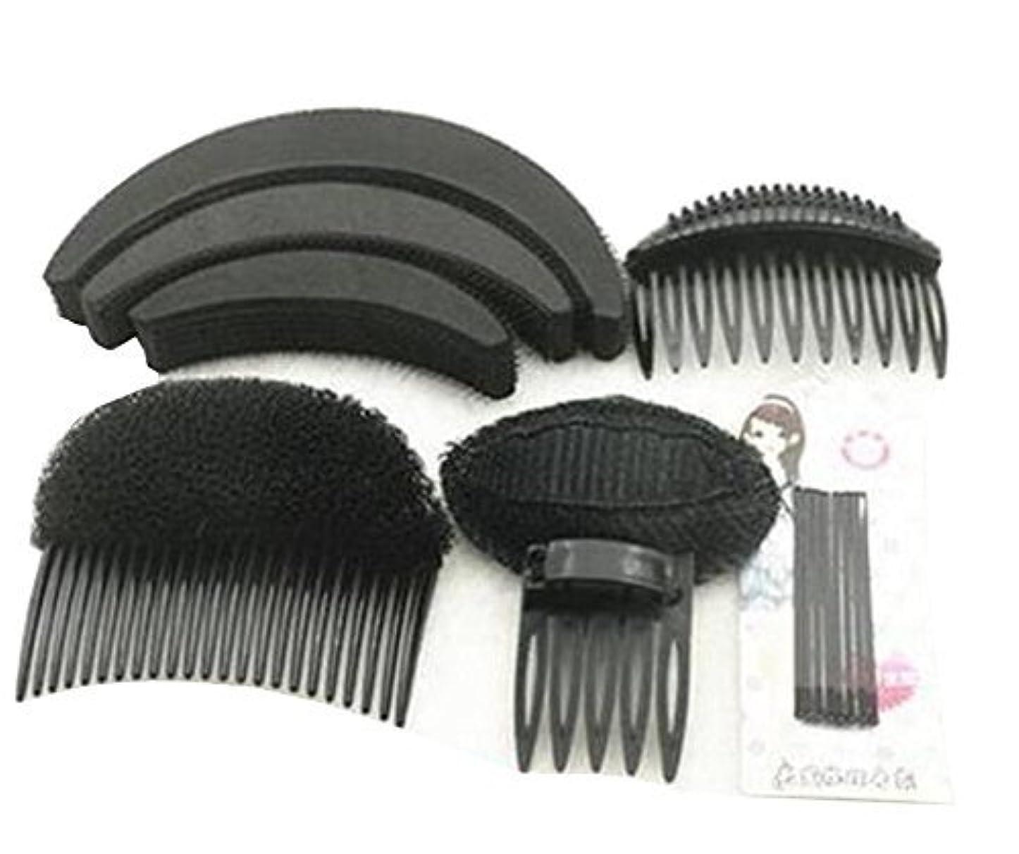 雰囲気蒸気記念品1 Set As picture Shown Hair Styler Styling Tool DIY Hairpin Bump Up Inserts Base Comb Bumpits Bump Foam Pads Braiding...