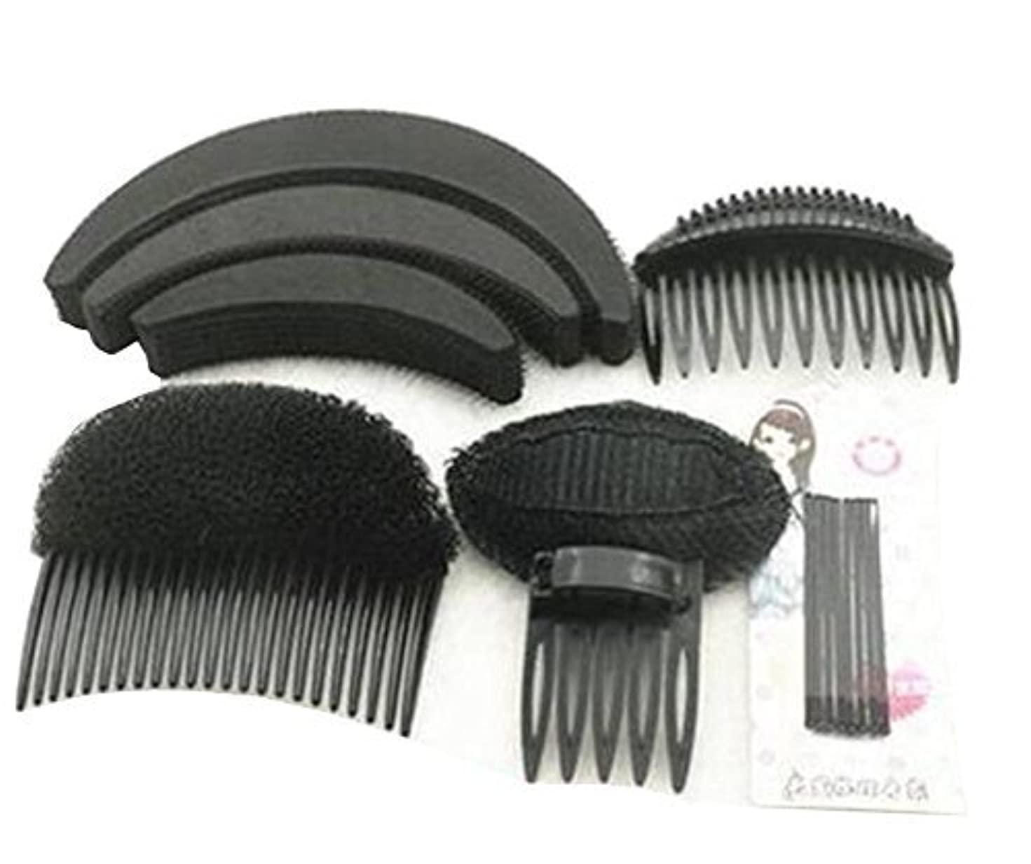 密哲学的サミュエル1 Set As picture Shown Hair Styler Styling Tool DIY Hairpin Bump Up Inserts Base Comb Bumpits Bump Foam Pads Braiding...