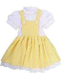 167e2f5077655 子供服 チェック柄 ワンピース 女の子 格子縞 半袖 ドレス キッズ サスペンダースカート ペチコート 付き 可愛い 結婚