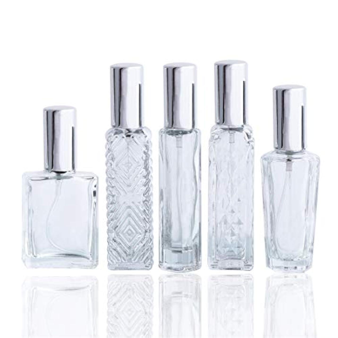 吐き出す北極圏異形Waltz&Fクリアガラススプレー香水瓶 空きフレグランスボトル詰替用瓶アトマイザー分け瓶 旅行用品 化粧水用瓶