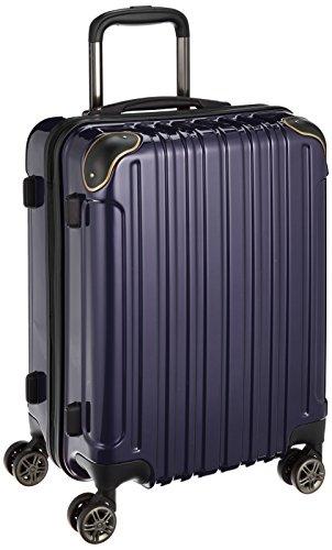 [ワイズリー] 超軽量双輪スーツケース 機内持込最大サイズ コーナーパッド付き TSAロック 338-2200 03 ネイビー