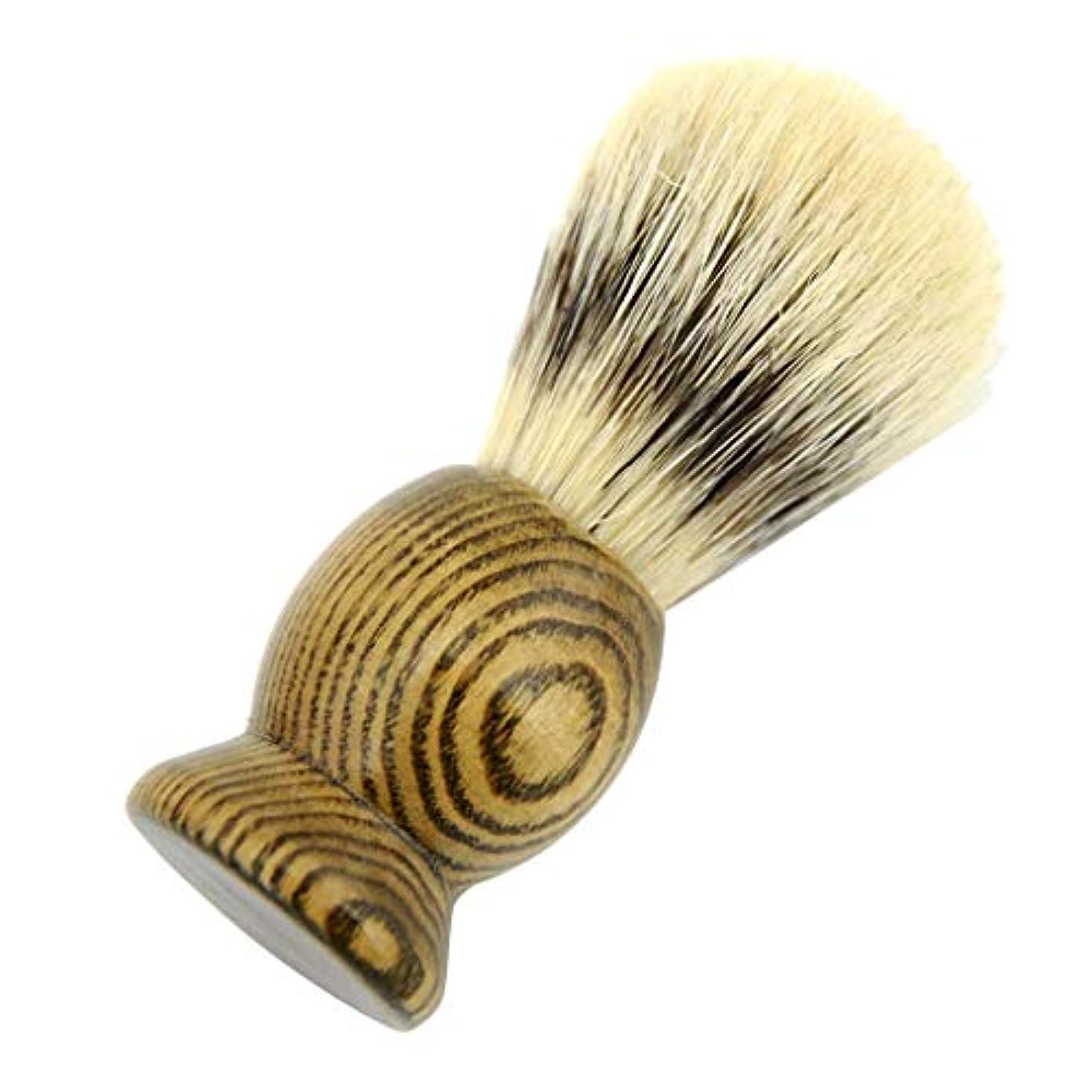 バンフリンジセラーひげブラシ メンズ シェービングブラシ 髭剃り 理容 洗顔 ポータブルひげ剃り美容ツール