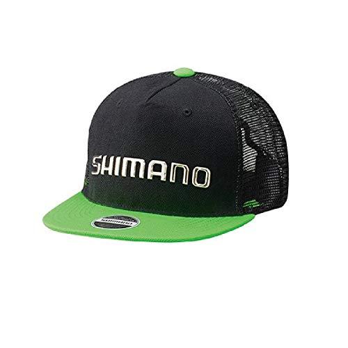 シマノ(SHIMANO) フラットブリムメッシュキャップ CA-092S ブラック/ライム