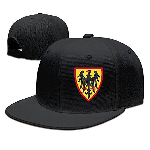 ZD 男女兼用 カジュアル ドイツ イーグル サッカー チーム ロゴ ポスター 小顔効果 野球帽 Black