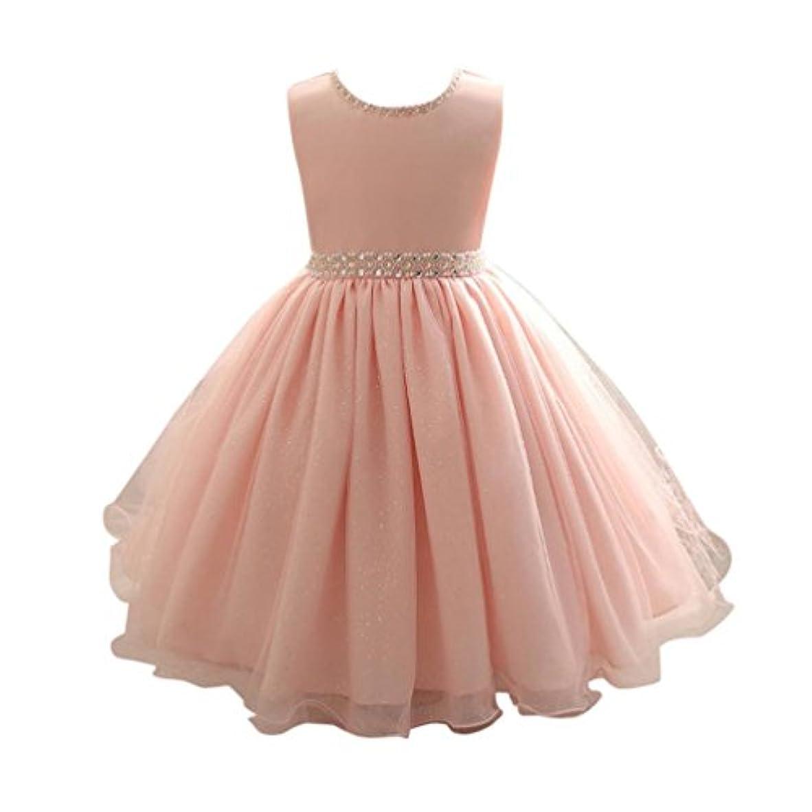 サイズファントム強要Mhomzawa 子供ドレス 女の子 発表会 子どもドレス 結婚式 お呼ばれ キッズ プリンセス こどもフラワーガール 花柄 子ども服