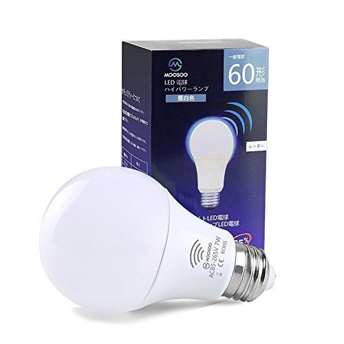 LED電球 レーダーセンサーライト 明暗&人感センサー 搭載レーダー探知機 照度センサーランプ 消費...
