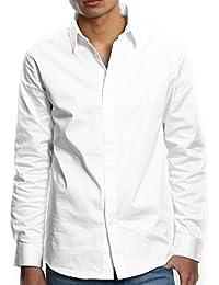 e349c1395ad43 インプローブス シャツ ストレッチシャツ 長袖 yシャツ ドレスシャツ 綿シャツ 無地 シンプル メンズ