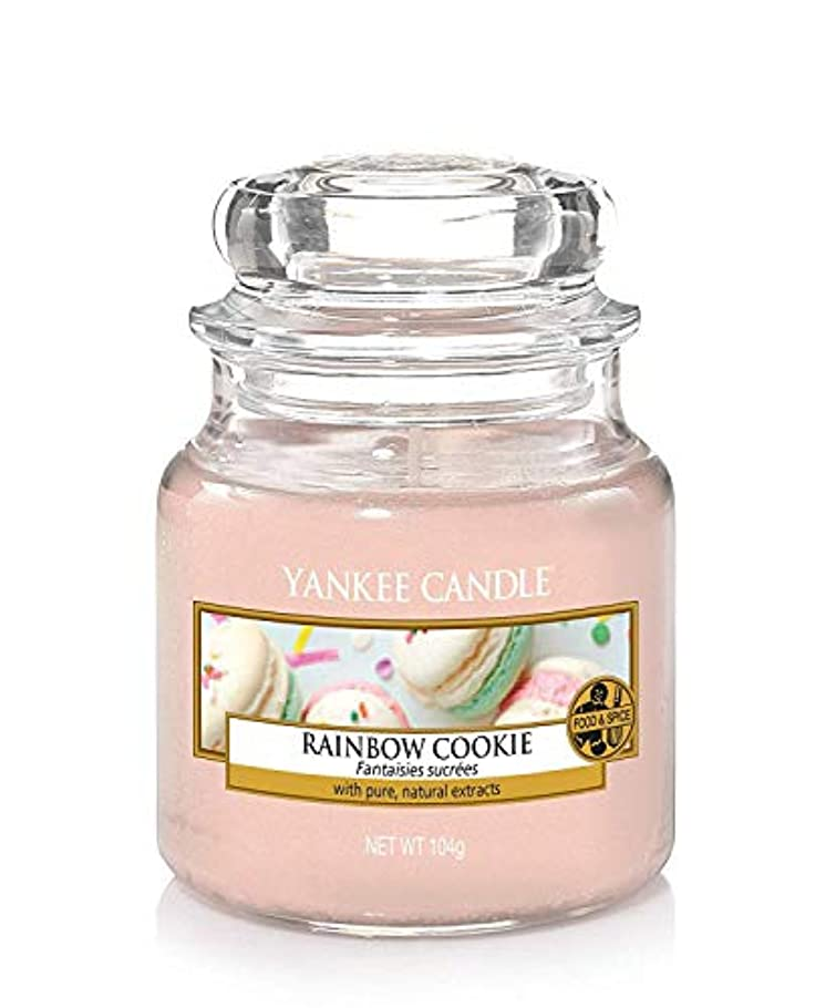 はしご上陸繊維Yankee Candle Rainbow Cookie Small Jar