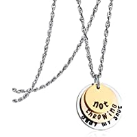 Not Throwing Away My Shot Tri-Layer Necklace for Teen Girls Hamilton Gifts Broadway Musical Inspired Jewelry