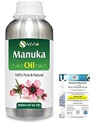 Manuka (Leptospermum scoparium) 100% Natural Pure Essential Oil 2000ml/67 fl.oz.