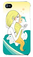 Coverfull Dolphin (クリア) design by いせきあい/for iPhone 4S/au AAPI4S-PCCL-152-M864