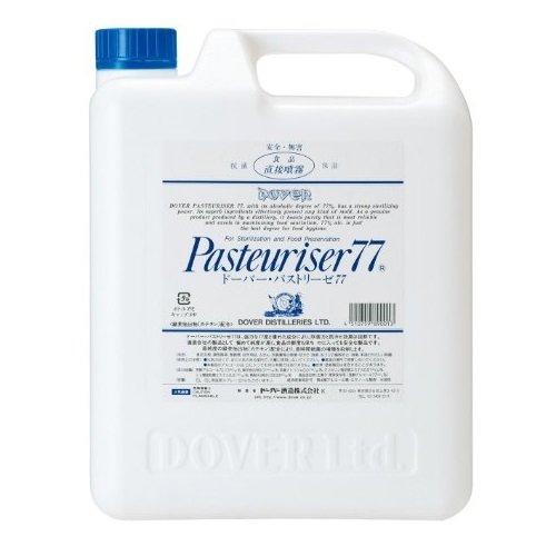 ドーバー パストリーゼ77 除菌 防カビ 防臭 保湿 食品保存に 5L 詰め替え ご家庭の必需品 プロフェッショナル 高純度アルコール77%の強力な除菌力 高純度カテキンの抗菌持続性 「安心」は「高品質」から