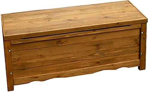 天然木製ボックスベンチ(ストッカー) ライトブラウン 幅
