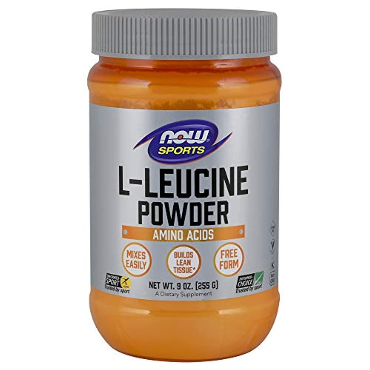 腹痛オーナメントシルエット[海外直送品] ナウフーズ L-ロイシン(粉末) 9oz(255g)