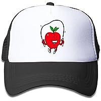 子ども グリッドキャップジャンプロープ リンゴおしゃれな 軽量 メッシュ帽子 オスとメス 通用