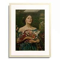 ジョン・ウィリアム・ウォーターハウス John William Waterhouse 「Gather Ye Rosebuds While Ye May」 額装アート作品