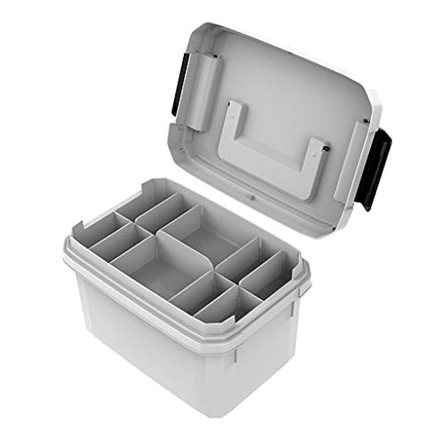 自発バケットアレンジ多層薬箱家庭用大容量ツール救急機能プラスチック薬収納ボックス HUXIUPING (Size : M)