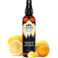 Natural Shoe Deodorizer Spray, Foot Odor Eliminator by Lumi Outdoors - Fresh Citrus Tea Tree Essential Oil Odor Eater