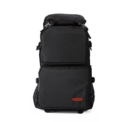 Niksa バックパック リュックサック PC収納可能 大容量 撥水性 耐磨耗 登山 旅行 ビジネス (ブラック)