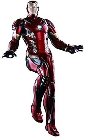 パワー・ポーズ シビル・ウォー/キャプテン・アメリカ アイアンマン・マーク46 1/6スケール プラスチック製 塗装済み限定可動フィギュア
