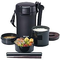 タイガー 魔法瓶 保温 弁当箱 ステンレス ランチ ジャー 茶碗 約 4 杯分 ブラック LWU-A202-KM Tiger