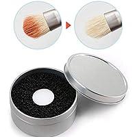 メイクブラシ クリーナー ブラッシュブラシ ドライクリーニングスポンジ 迅速なクリーニングスポンジ (黒+白)