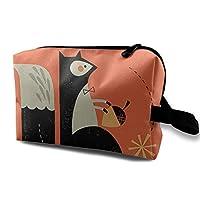 Cartoon Squirrel 化粧品バッグトラベル化粧品バッグ大容量収納バッグウォッシュバッグ文房具バッグ小物収納バッグビジネストラベル