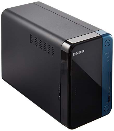 QNAP(キューナップ) TS-253Be クアッドコア1.5 GHz CPU 2GB/4GBメモリ 2ベイ DTCP-IP/DLNA対応 ランサムウェアからも復元可