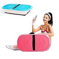 振動マシン ダイエット器具低脂肪家族体操用フィットネス振動プラットフォーム150(Kg)ラバーフットパッドロードベアリング,Blue