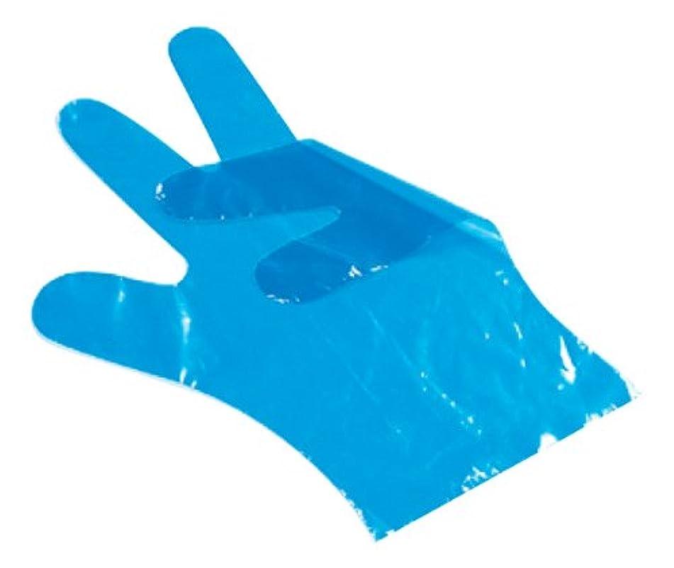 不透明な取り囲むお別れサクラメン スタンダード手袋 ポリ青(100枚入)L 30μ